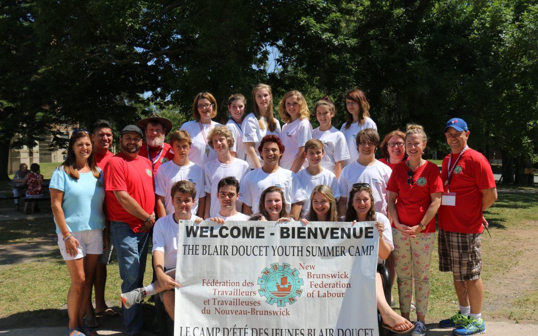 17e Camp d'été des jeunes Blair Doucet de la FTTNB