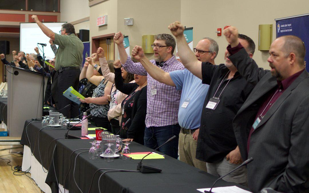 Les délégués(e)s du congrès de la FTTNB élisent un nouveau président et établissent des priorités